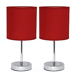 Mini Table Lamps in Chrome (Set of 2)