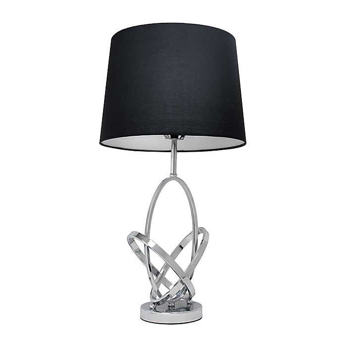 Alternate image 1 for All the Rages Elegant Designs Mod Art Table Lamp in Chrome with Fabric Shade