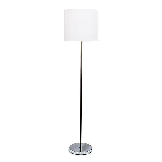 Drum Shade Floor Lamp In Brushed Nickel