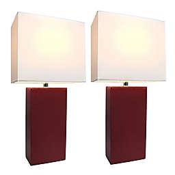 Elegant Designs Monaco Avenue Table Lamps (Set of 2)