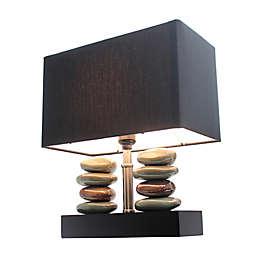 Elegant Designs Monterey Ceramic Table Lamp in Black