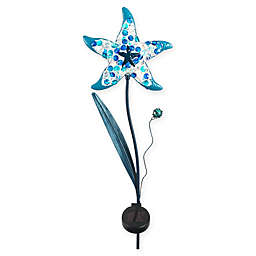 Starfish Solar Lighted Garden Stake in Blue