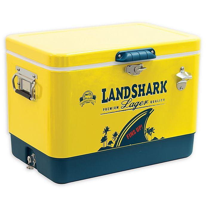Alternate image 1 for Margaritaville® MGV Land Shark 54 Qt. Cooler with Bottle Opener in Yellow