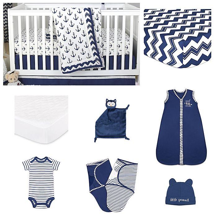 Alternate image 1 for The PeanutShell™ Sail Away 11-Piece Sleep Essentials Crib Set in Navy