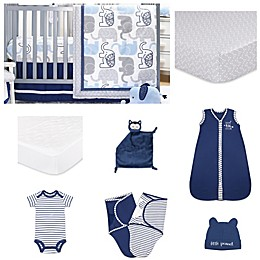 The Peanutshell™ Little Peanut Crib Bedding Collection in Navy