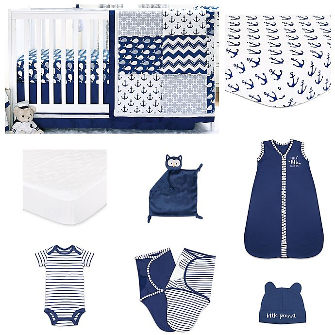 Alternate image 1 for The Peanutshell™ Anchor Crib Bedding Collection in Navy