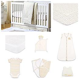 The PeanutShell™ All that Glitters Confetti 11-Piece Sleep Essentials Crib Set in Gold