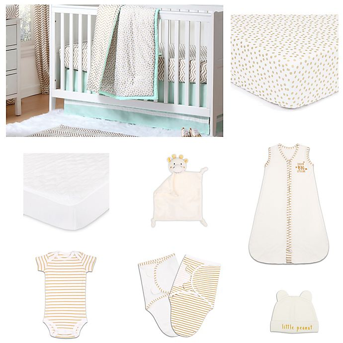 Alternate image 1 for The Peanut Shell™ Minted Confetti Crib Bedding Collection