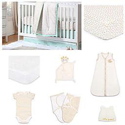 The Peanut Shell™ Minted Confetti 11-Piece Sleep Essentials Crib Set in Mint/Gold