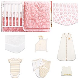 The PeanutShell™ Audrey 11-Piece Sleep Essentials Crib Set in Coral