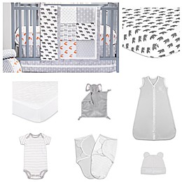 The PeanutShell™ Woodland 11-Piece Sleep Essentials Crib Set in Grey