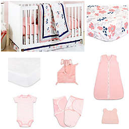 The Peanut Shell® Floral Dot Crib Bedding Collection