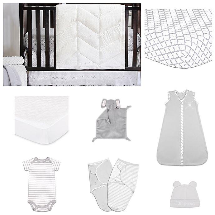 Alternate image 1 for The Peanutshell™ Grey Diamond Crib Bedding Collection
