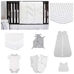 The Peanut Shell® Grey Diamond Crib Bedding Collection