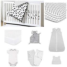 The Peanutshell™ Crib Skirt in Black/White