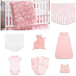 The PeanutShell™ Jayden 11-Piece Sleep Essentials Crib Set in Coral