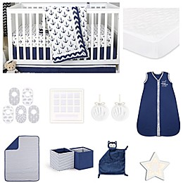 The Peanutshell™ Sail Away Crib Bedding Collection in Navy