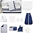 Part of the The Peanutshell™ Sail Away Crib Bedding Collection in Navy