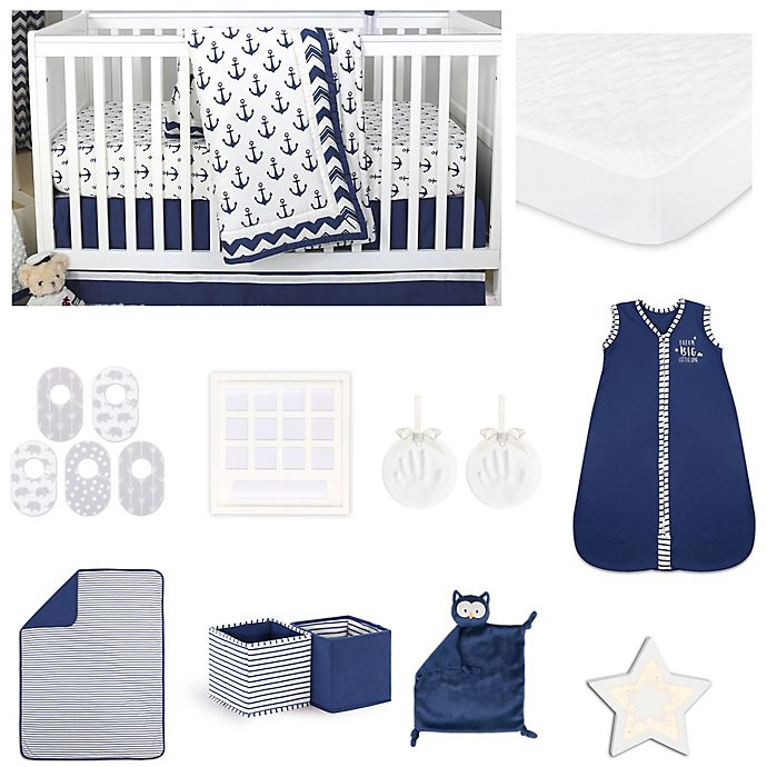 Alternate image 1 for The Peanutshell™ Sail Away Crib Bedding Collection in Navy