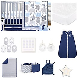 The PeanutShell™ Little Peanut Navy 18-Piece Nursery Essentials Set