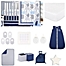 Part of the The Peanut Shell® Little Peanut Crib Bedding Collection in Navy