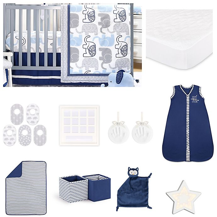 Alternate image 1 for The Peanutshell™ Little Peanut Crib Bedding Collection in Navy