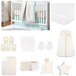 The Peanut Shell™ Chevron Crib Bedding Collection in Mint