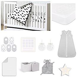 The PeanutShell™ Fluffy Cloud 18-Piece Nursery Essentials