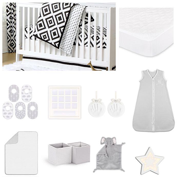 Alternate image 1 for The Peanutshell™ Deco Diamond Crib Bedding Collection
