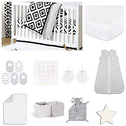 The Peanutshell™ Deco Diamond Crib Bedding Collection