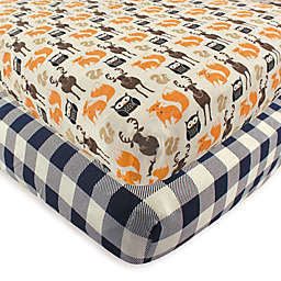 Hudson Baby® 2-Pack Forest Fitted Crib Sheets