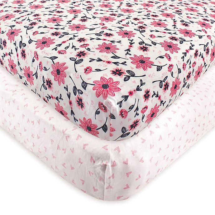Alternate image 1 for Hudson Baby® Botanical Fitted Crib Sheets (Set of 2)
