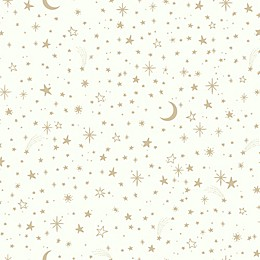 RoomMates® Twinkle Little Star Peel & Stick Wallpaper in Gold/White
