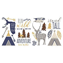 RoomMates® Adventure Awaits Peel and Stick Wall Decals in Brown/Orange