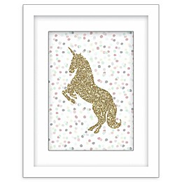 RoomMates® Glitter Unicorn 11-Inch x 14-Inch Framed Wall Art