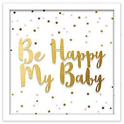 "RoomMates® ""Be Happy My Baby"" 10-Inch Square Shadowbox Wall Art"