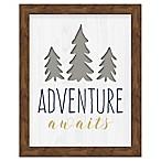 RoomMates® Adventure Awaits 8-Inch x 10-Inch Framed Wall Art
