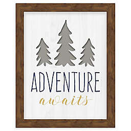 "RoomMates® ""Adventure Awaits"" 8-Inch x 10-Inch Framed Wall Art"