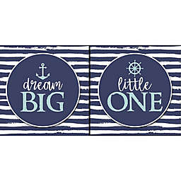 "RoomMates® ""Dream Big Little One"" 16-Inch x 8-Inch Boxed Diptych Wall Art"