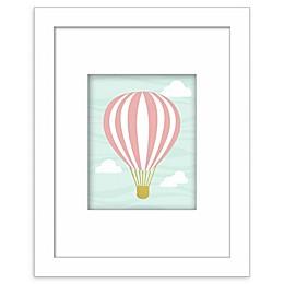 RoomMates® Hot Air Balloon 8-Inch x 10-Inch Framed Wall Art