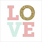 RoomMates® Love Boxed Plaque with Glitter 10-Inch Square Wood Wall Art
