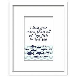 RoomMates® All of the Fish in the Sea 8-Inch Square Shadowbox Wall Art