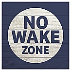 "RoomMates® ""No Wake Zone"" 10-Inch Square Wood Wall Art"