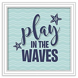RoomMates® Play the Waves 10-Inch Square Shadowbox Wall Art