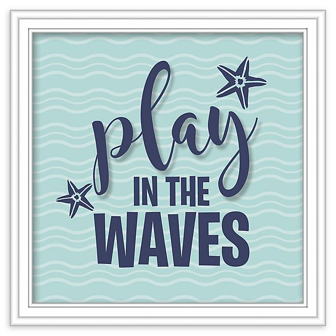 Alternate image 1 for RoomMates® Play the Waves 10-Inch Square Shadowbox Wall Art