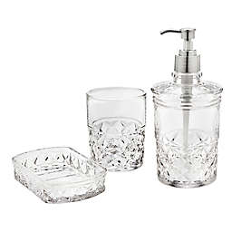 Godinger® Allegro 3-Piece Clear Vanity Set