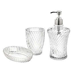 Godinger® Serenity 3-Piece Clear Vanity Set