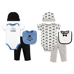 Hudson Baby® Size 0-6M Hello Ladies 8-Piece Grow with Me Set in Blue/Grey