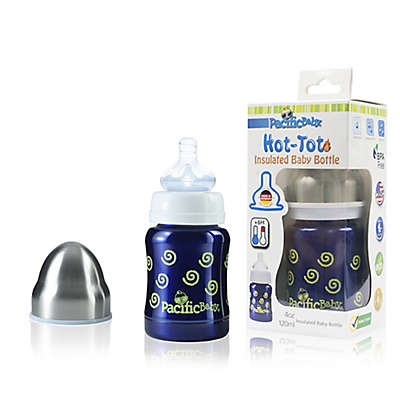 Pacific Baby Hot-Tot 4 fl.oz. Stainless Steel Wide-Neck Insulated Baby Bottle