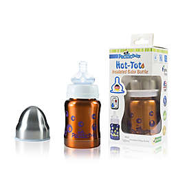 Pacific Baby Hot-Tot 4 fl.oz. Stainless Steel Wide-Neck Insulated Baby Bottle in Bubblegum